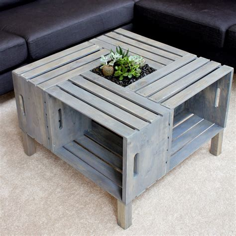 Diy Wine Crate End Table